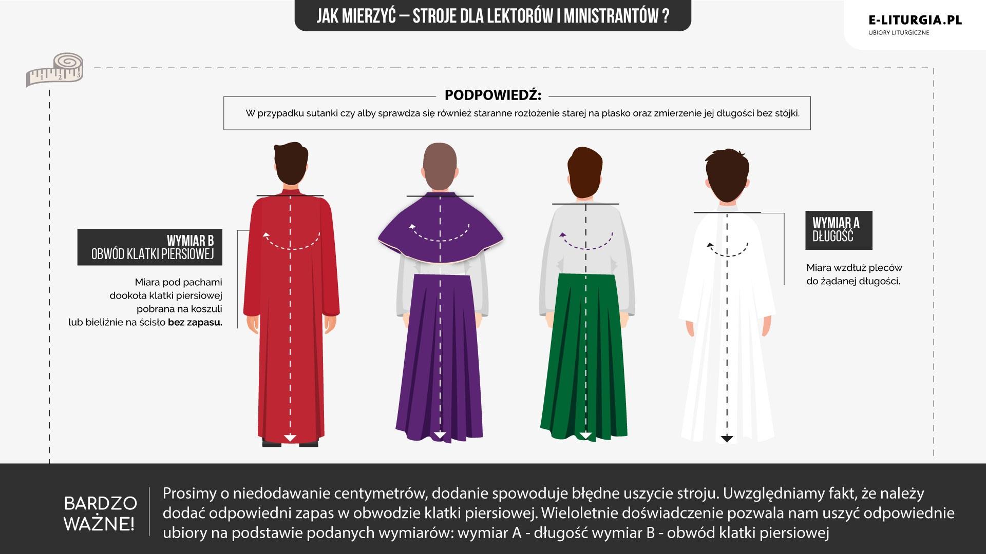 Lektorzy i ministranci (alby, alby kolorowe, sutanki kolorowe)