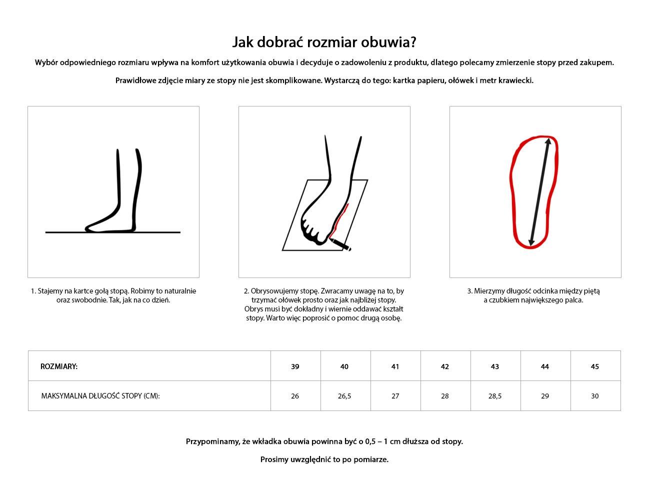 Jak mierzyć - buty